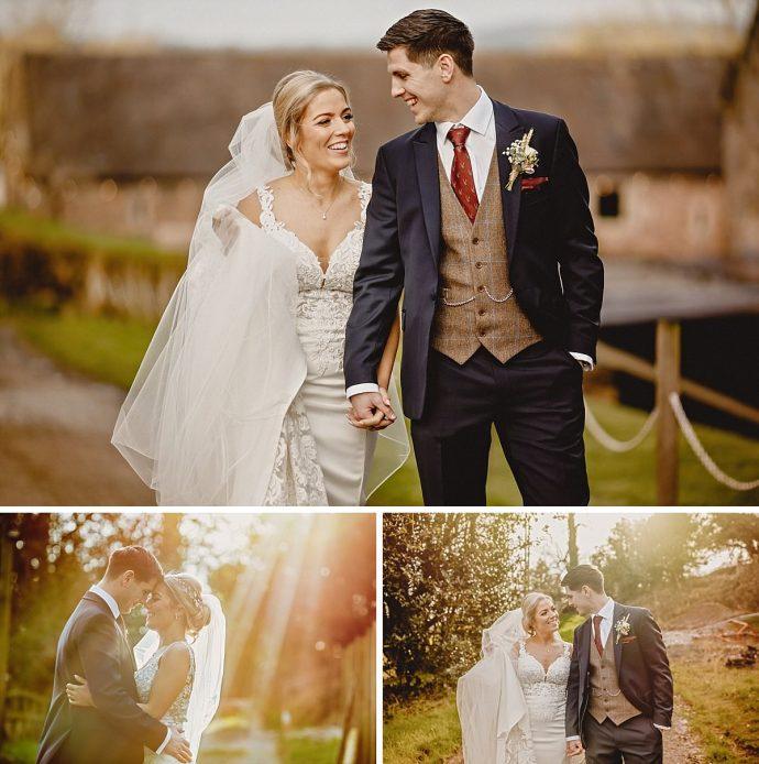 bride and bridegroom portraits
