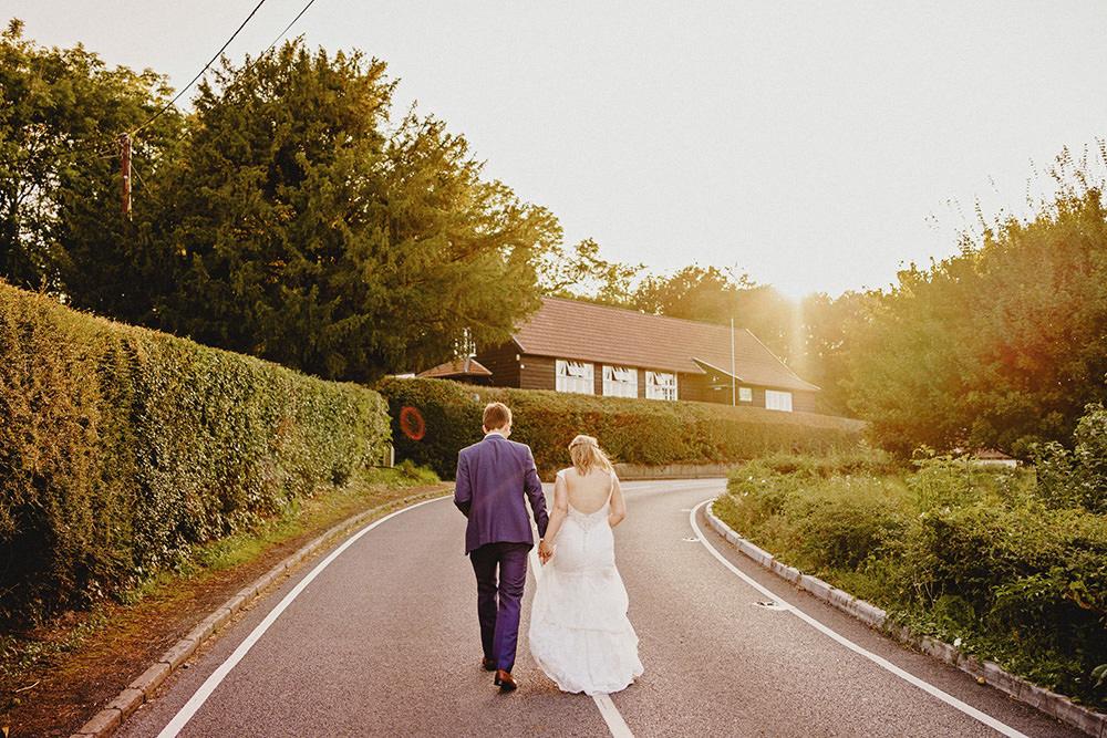 village hall wedding photo