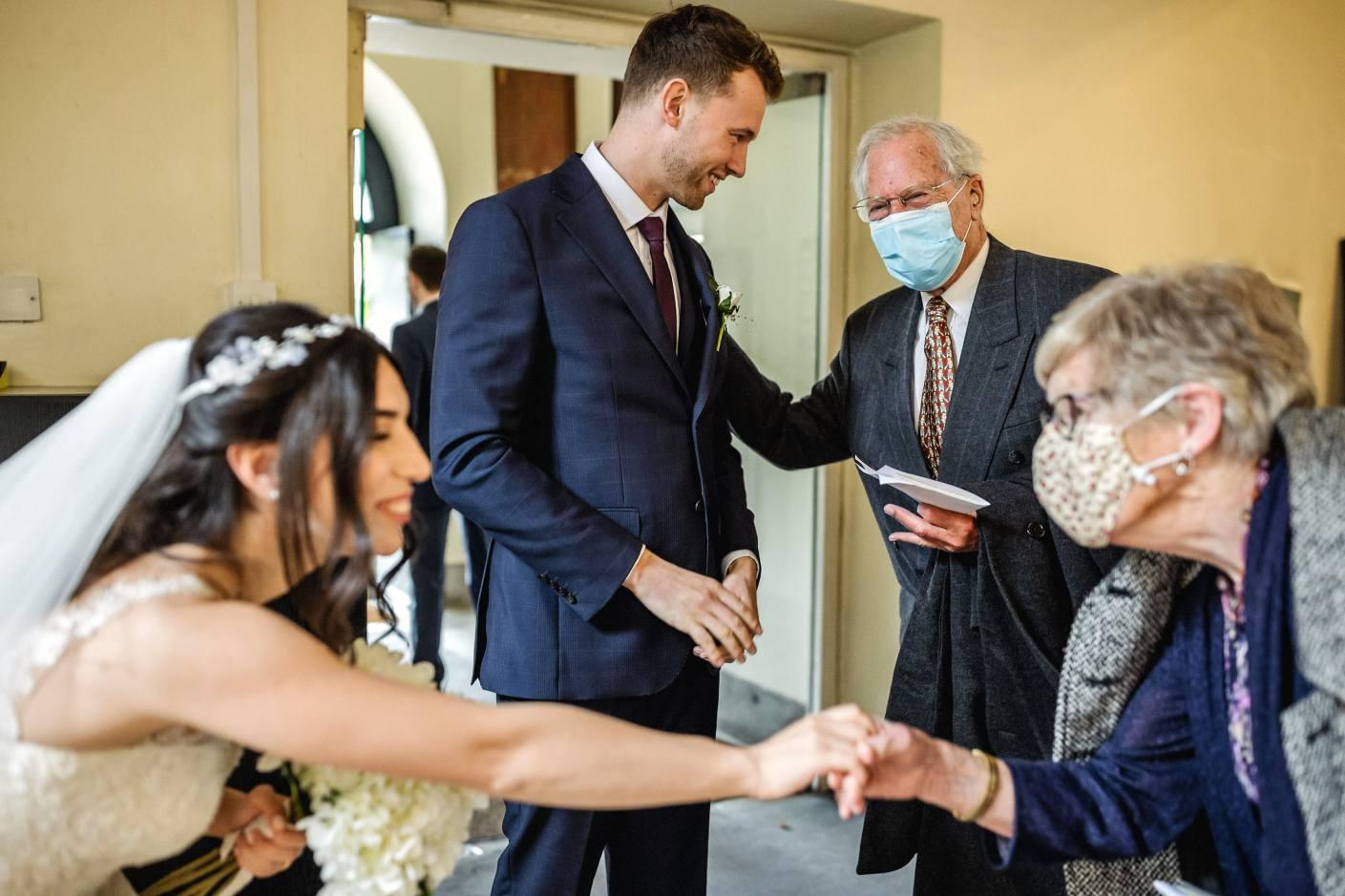 face masks at weddings