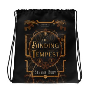 The Binding Tempest – Book Cover – Drawstring bag