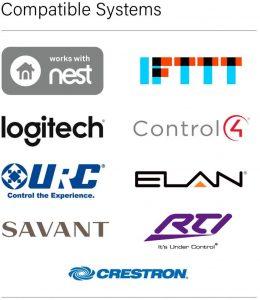 Nest, Logitech, Control 4, Crestron,