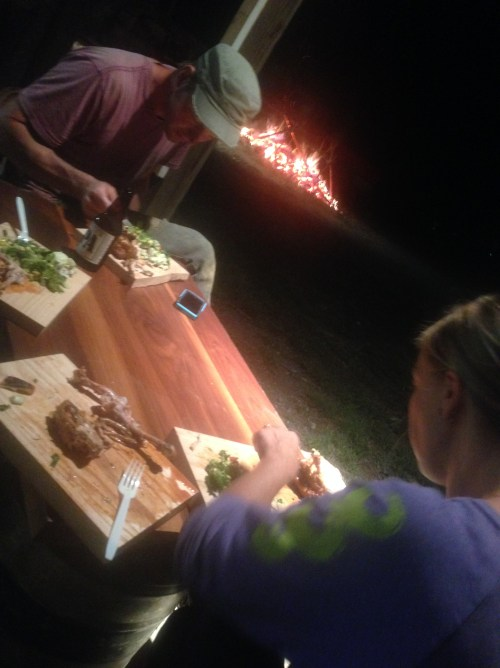 Fire, friends, and chicken