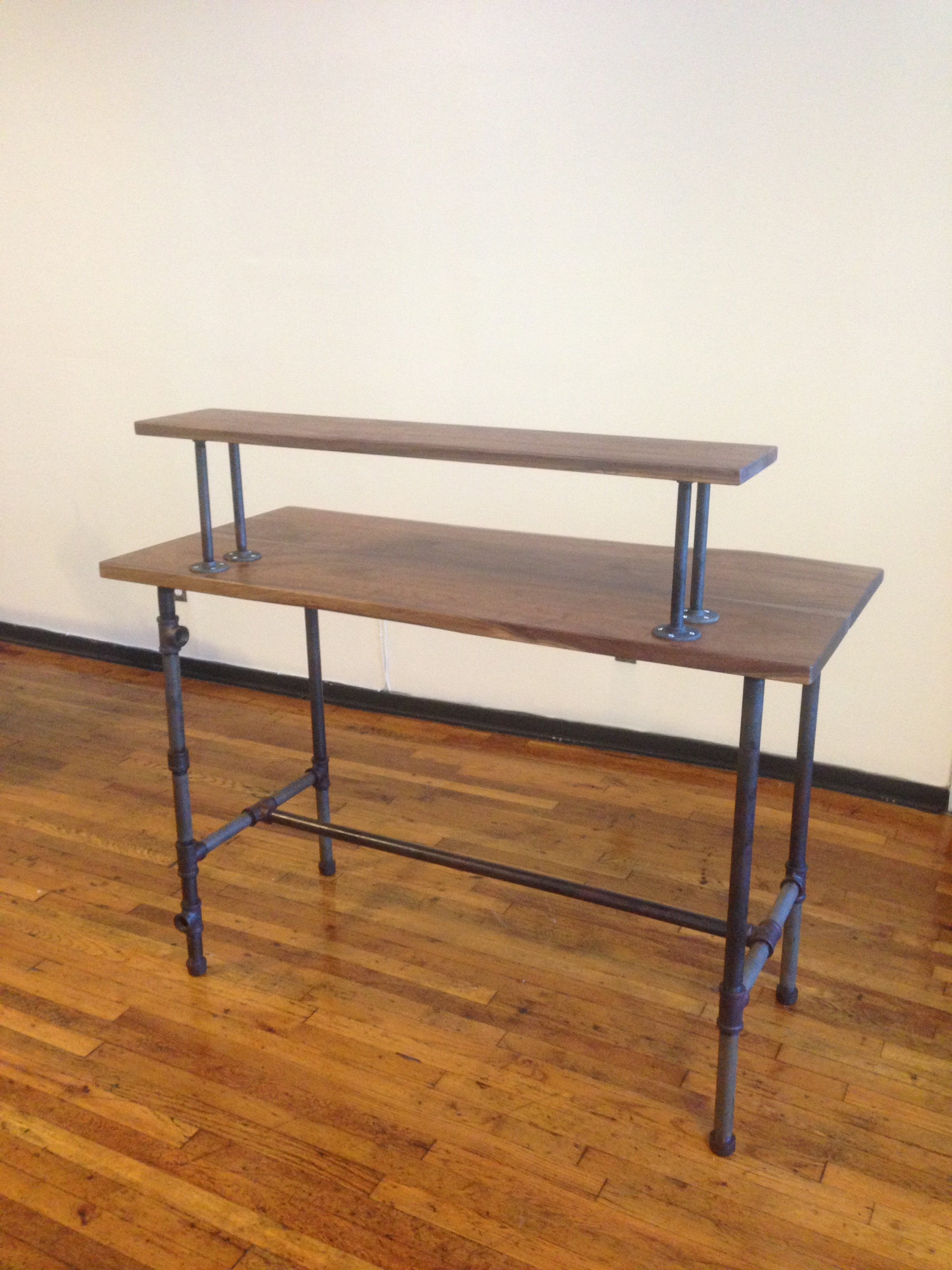 Our Complete Steel Pipe Standing Desk!