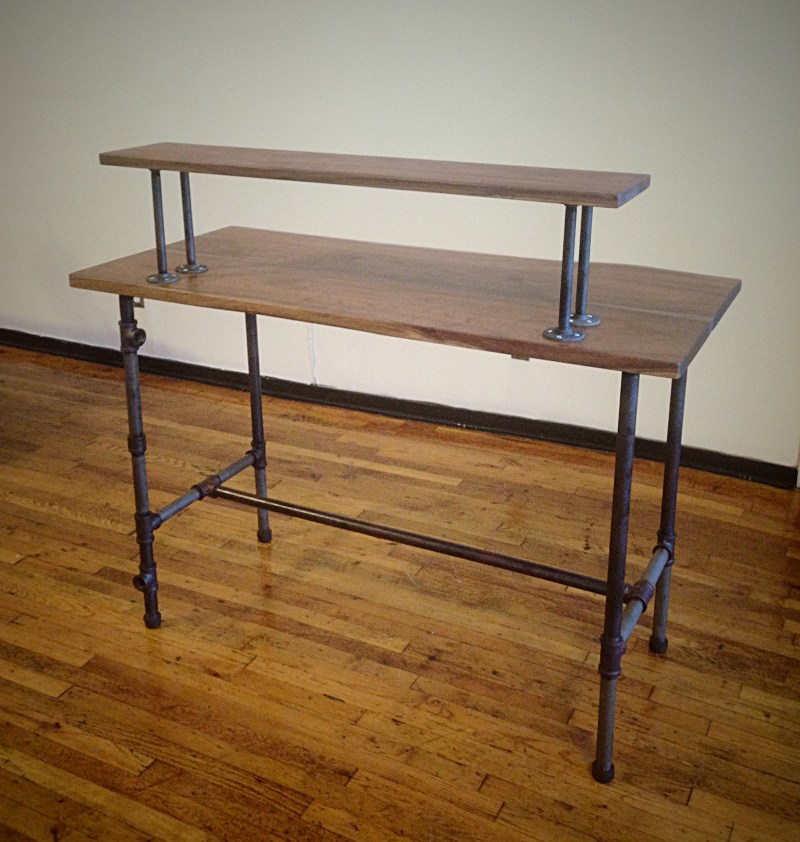 steel pipe standing desk