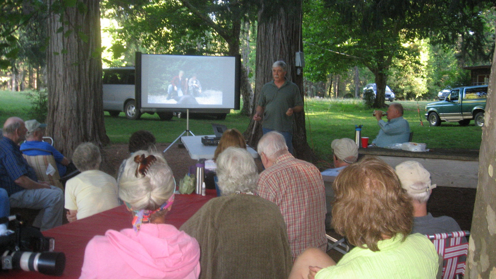 Picture of Steven T. Callan Giving Presentation to Bear Creek Watershed Group