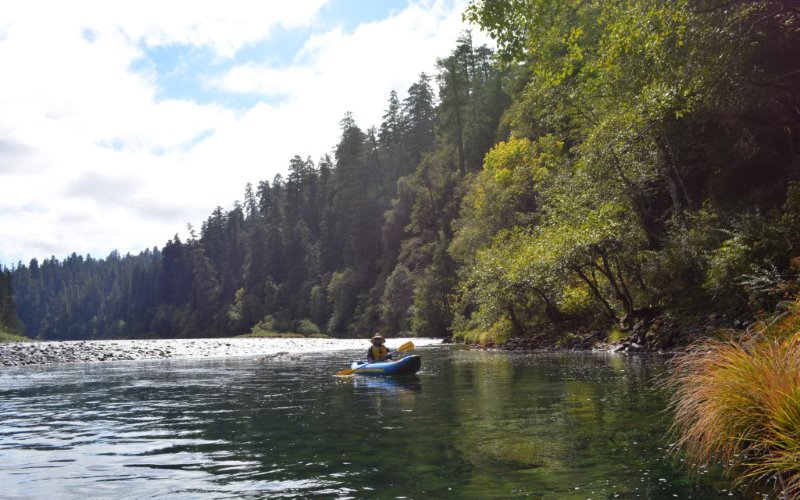 Kayaking on the Smith River, California