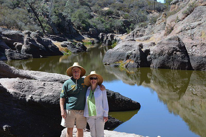 Author Steven T. Callan and Kathy Callan at Pinnacles National Park