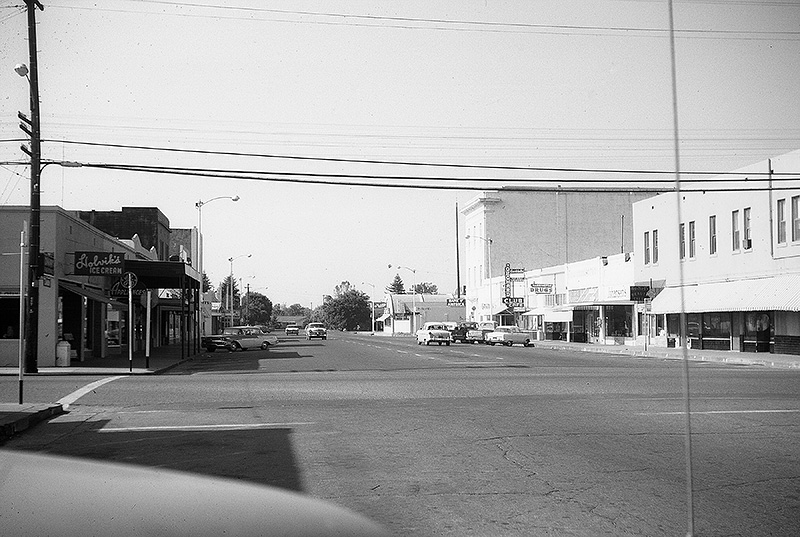 A view of downtown Orland, California (circa 1960).