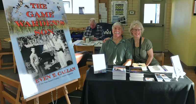 Author Steven T. Callan and His Wife, Kathy, at Sun Oaks Book Signing for The Game Warden's Son