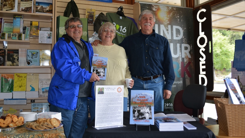 Author Steven T. Callan and friends at the Whiskeytown National Recreation Area book signing for his new book, THE GAME WARDEN'S SON