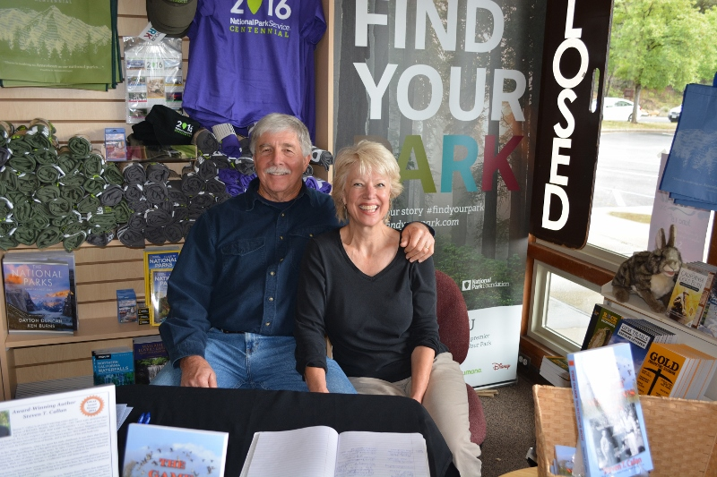 Author Steven T. Callan and Kathy Callan at the Whiskeytown National Recreation Area book signing for his new book, THE GAME WARDEN'S SON