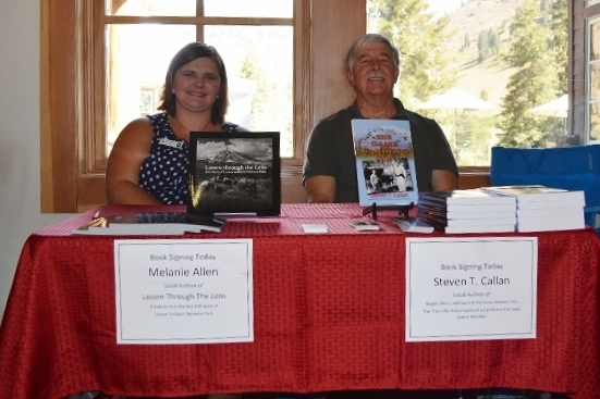 Authors Melanie Allen and Steven T. Callan at Book Signing during Art and Wine Festival at Lassen Volcanic National Park