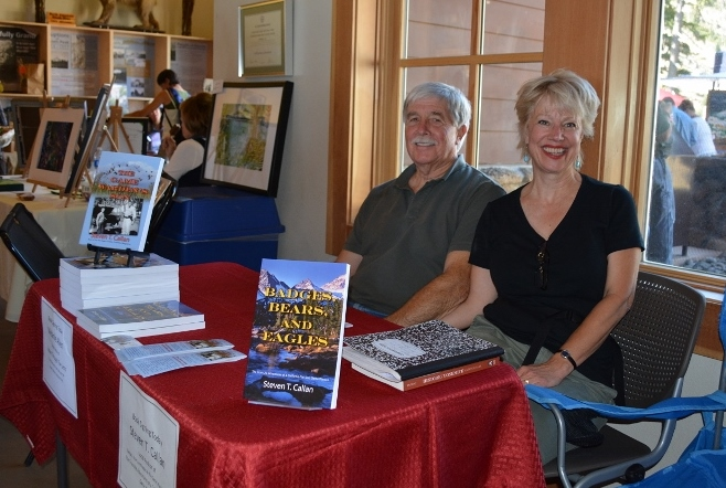 Author Steven T. Callan and Wife, Kathy, at Book Signing during Art and Wine Festival at Lassen Volcanic National Park