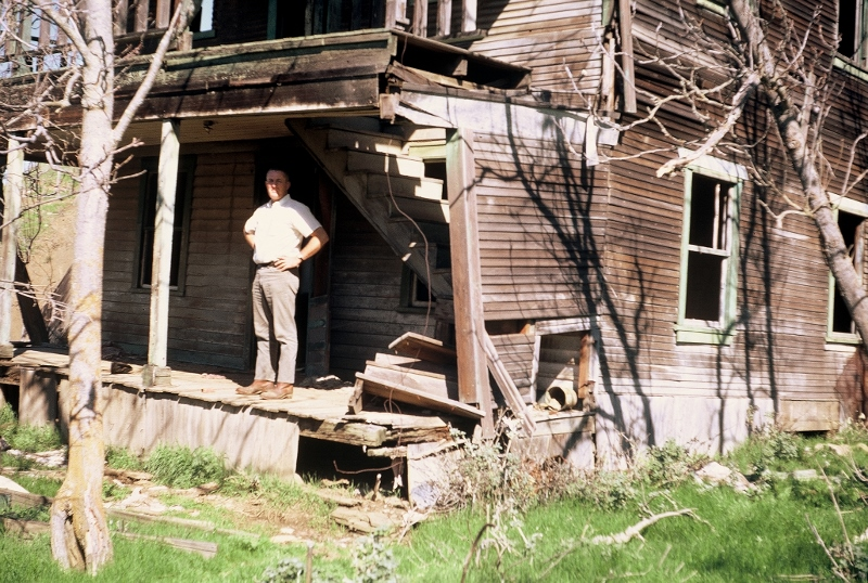 Warden Wally Callan in the ghost town of Newville, California, circa 1962. Photo by Steven T. Callan.