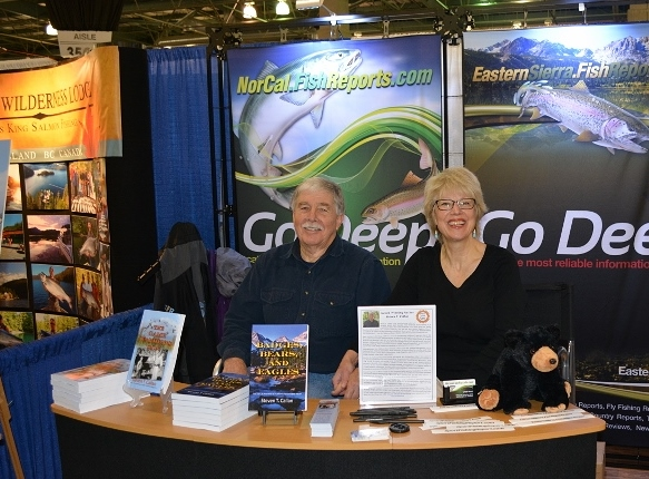 Author Steven T. Callan and Kathy Callan at the book signing for The Game Warden's Son at the International Sportsmen's Expo in Sacramento