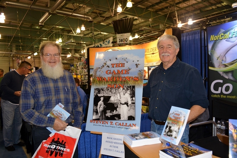 Author Steven T. Callan and friend at the book signing for The Game Warden's Son at the International Sportsmen's Expo in Sacramento