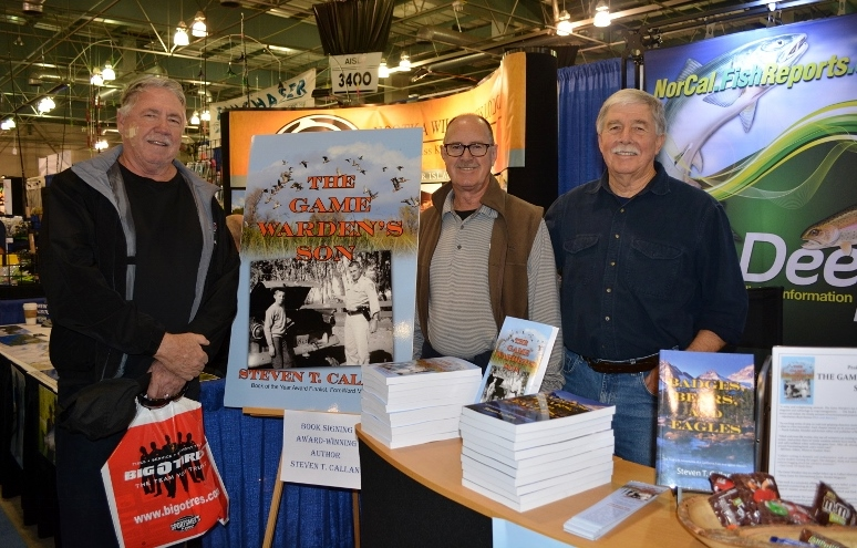 Author Steven T. Callan and friends at the book signing for The Game Warden's Son at the International Sportsmen's Expo in Sacramento