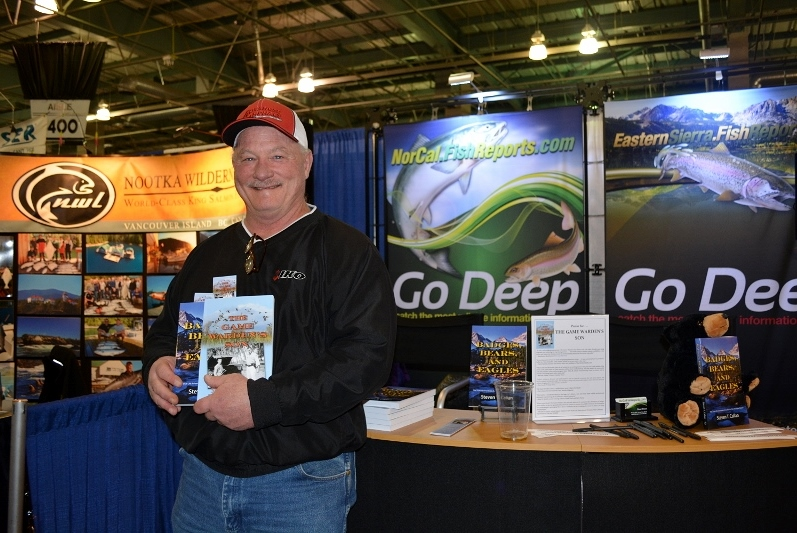 A friend at the book signing for The Game Warden's Son at the International Sportsmen's Expo in Sacramento