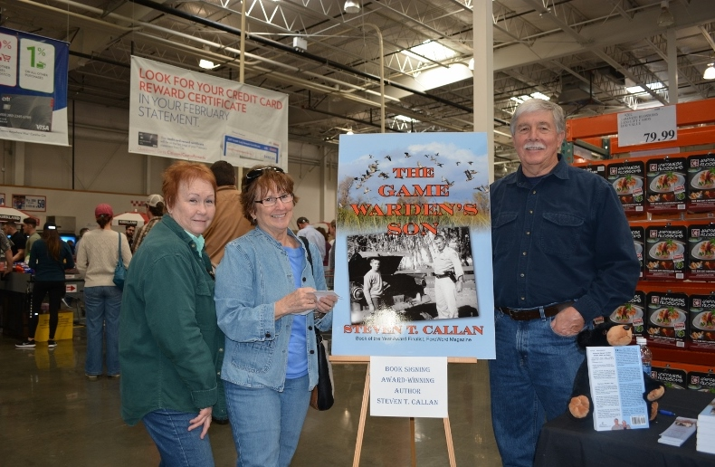 Author Steven T. Callan and friends at the book signing for THE GAME WARDEN'S SON at the Chico Costco