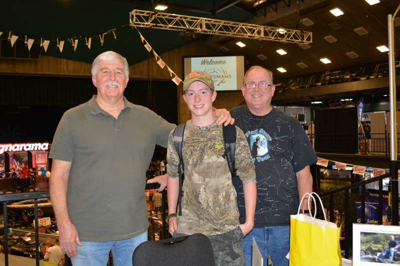 Author Steven T. Callan and friends at a book signing for his new book, The Game Warden's Son, at the Redding Sportsman's Expo, April 1, 2017