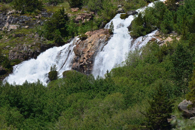 Mill Creek Falls, upstream from Lundy Lake. Photo by Steven T. Callan.