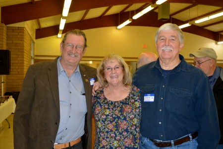 President Larry Donnelley, board member Kerrie Howard, and author Steven T. Callan at the Orland Alumni Association Awards Dinner.