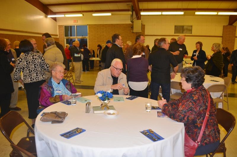 Friends and supporters attend the Orland Alumni Association Awards Dinner honoring authors John D. Nesbitt and Steven T. Callan.