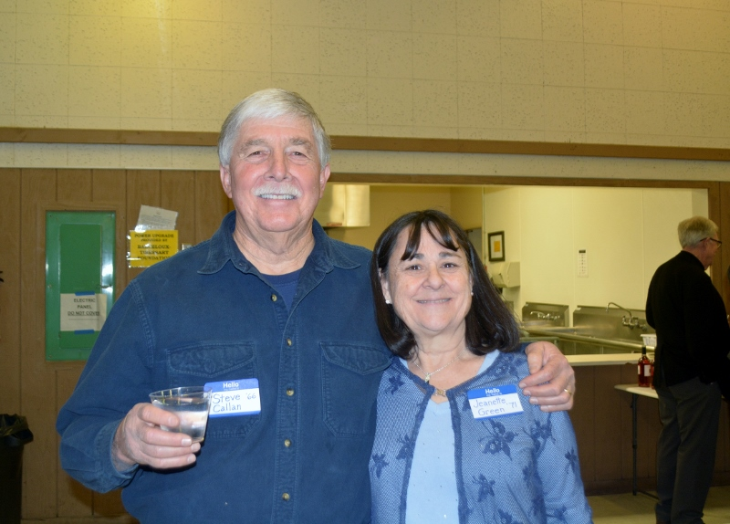Author Steven T. Callan and Jeanette Green at the Orland Alumni Association Awards Dinner.