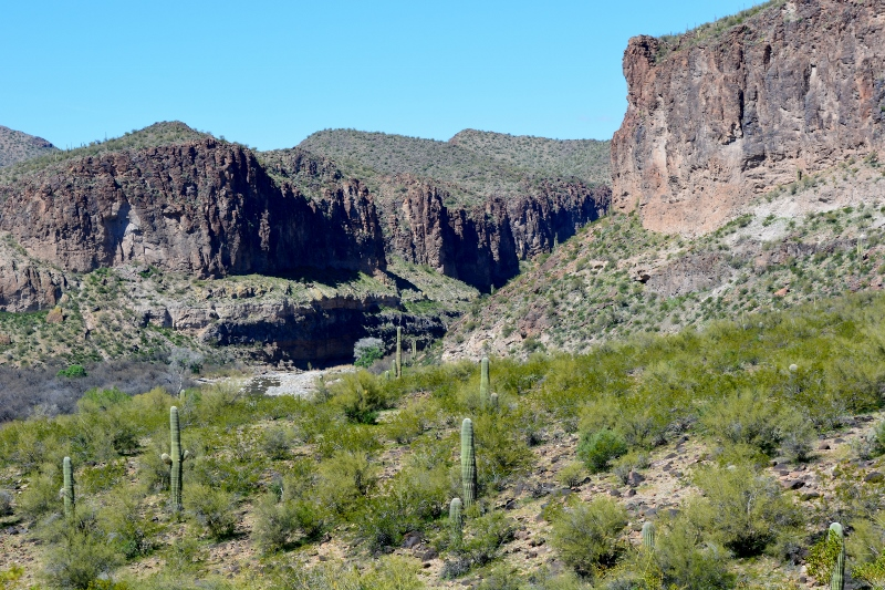 A canyon in Burro Creek Recreation Site, Arizona. Photo by Author Steven T. Callan.