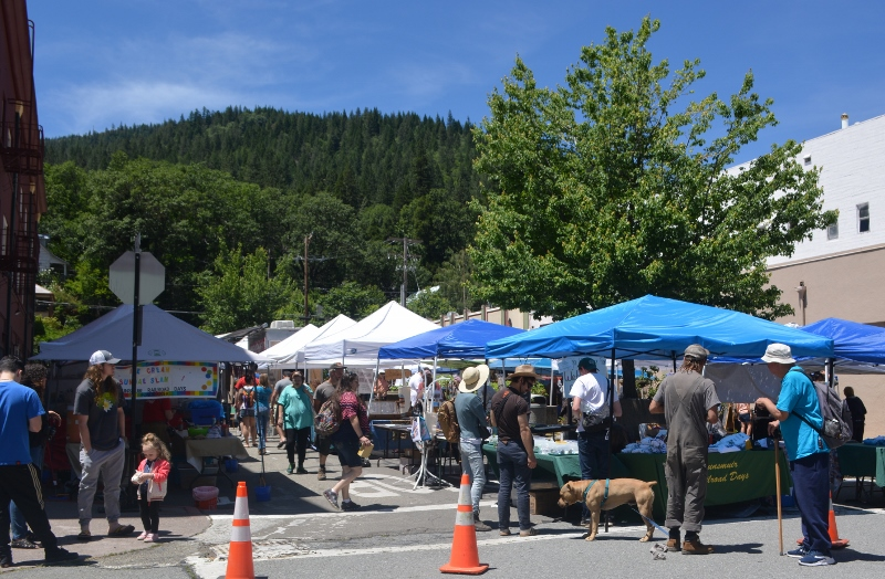 Street fairs are an integral part of Dunsmuir's annual Railroad Days.