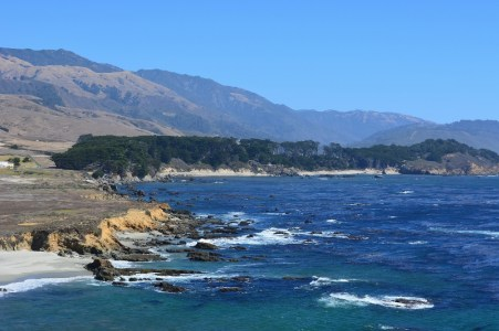 While traveling south on Highway 1, watch for whale spouts and soaring condors along the Central Coast.