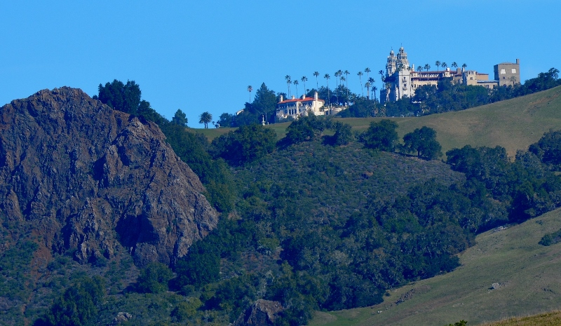 The view of Hearst Castle from Highway 1. Photo by author Steven T. Callan.