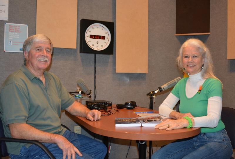 Author Steven T. Callan being interviewed by Nancy Wiegman, host of National Public Radio show Nancy's Bookshelf