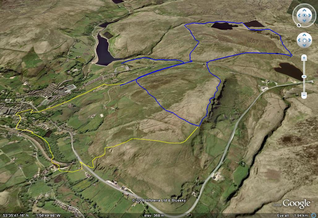 Ian Roberts Fell Race Route