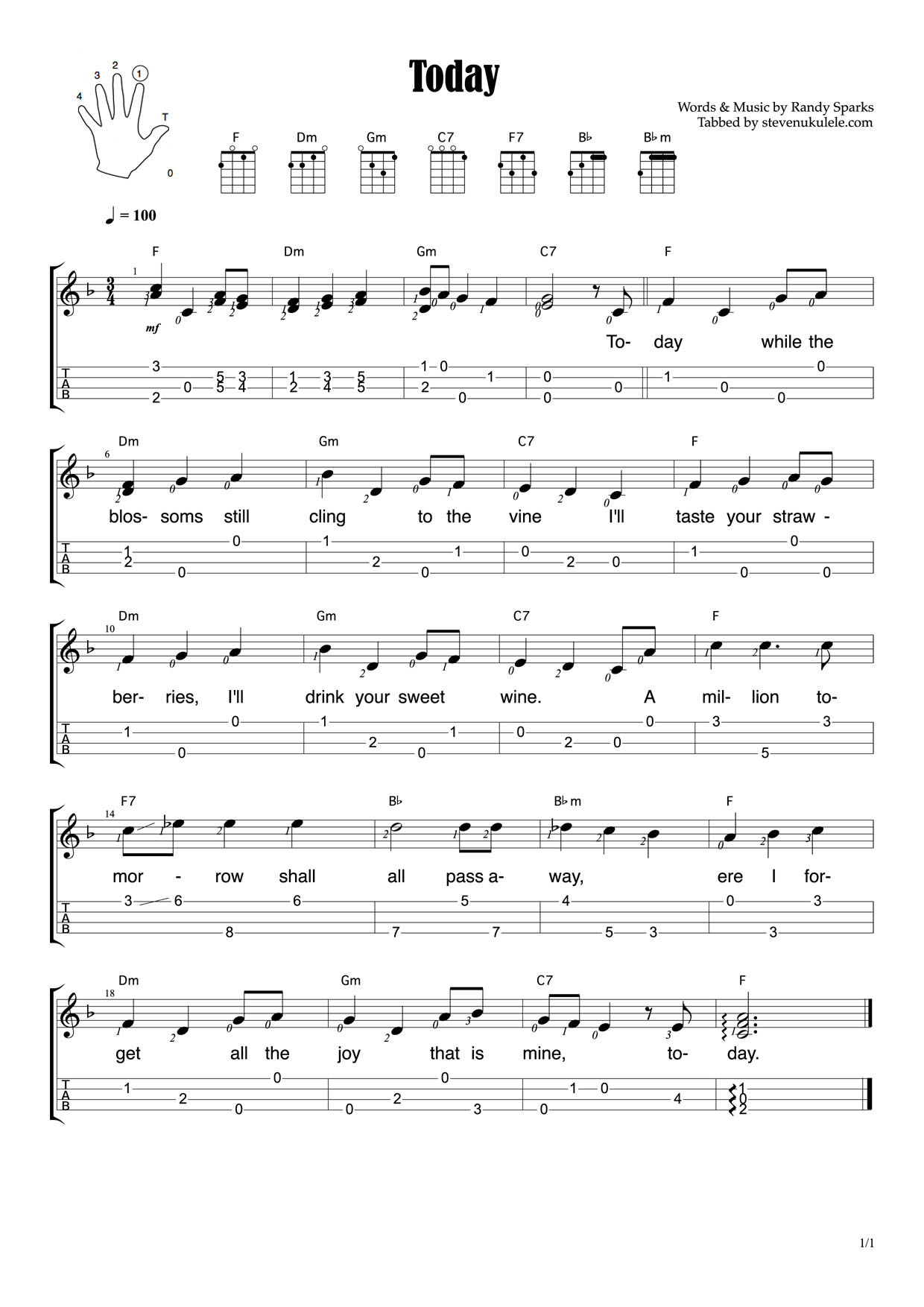 Today Chord Solo | steven.ukulele
