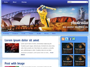 australia wordpress theme