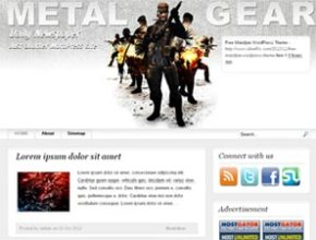 metal gear wordpress theme