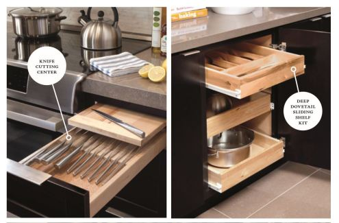 knife cutting and drawer pullout
