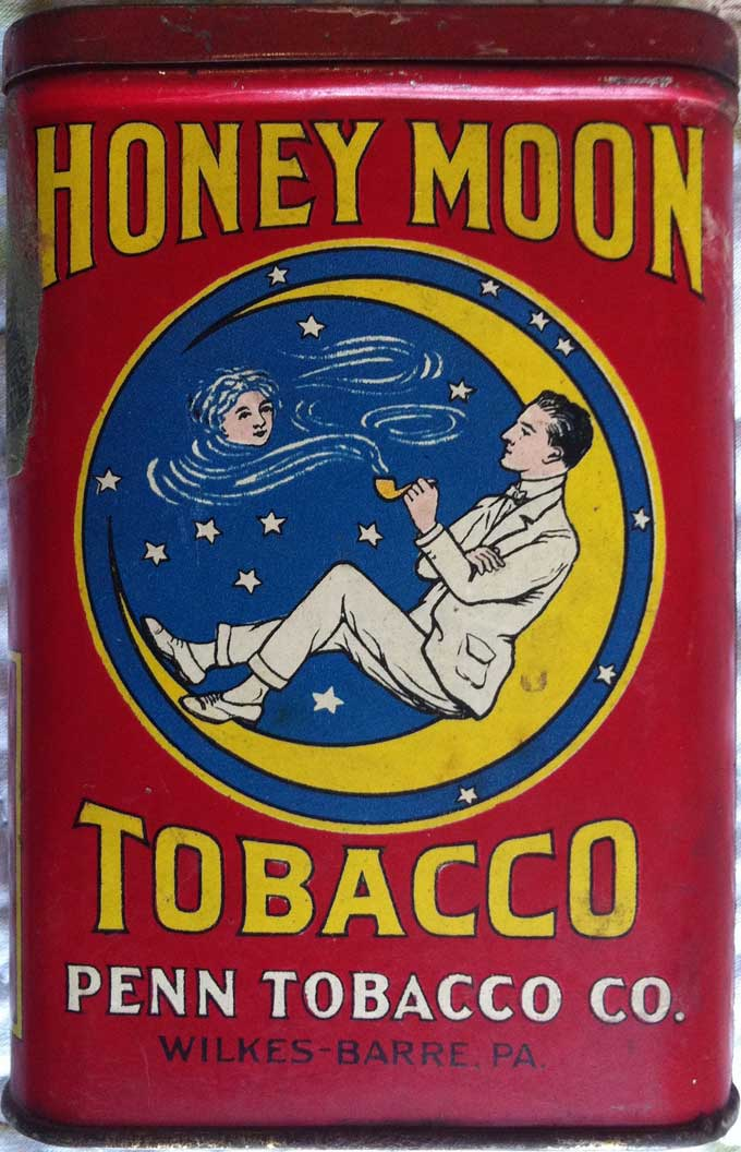 Honey Moon Tobacco Label