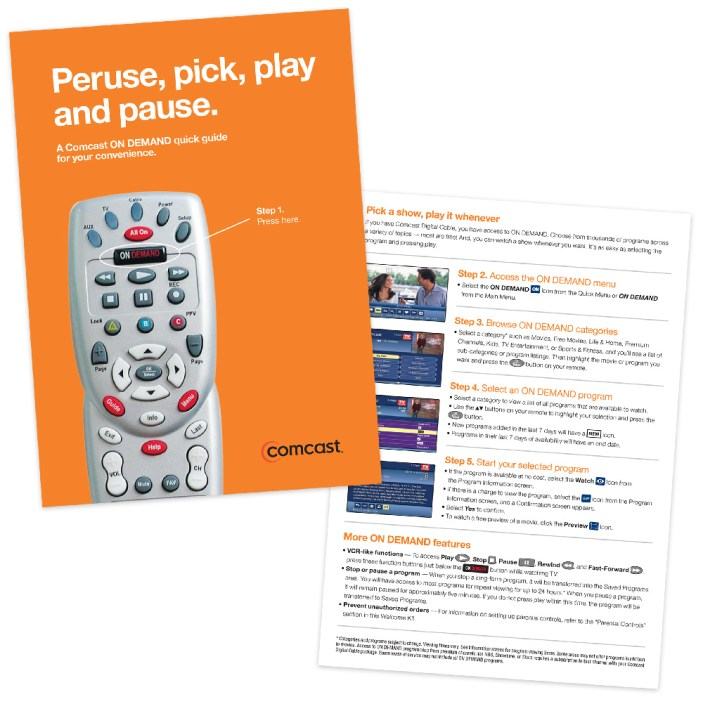 Comcast On Demand Quick Guide
