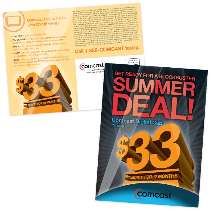 Comcast Summer Deal Mailer