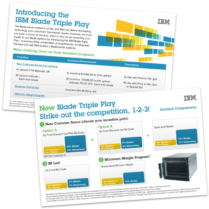 IBM Blade Triple Play Postcard