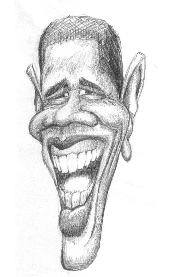President Obama Caricature