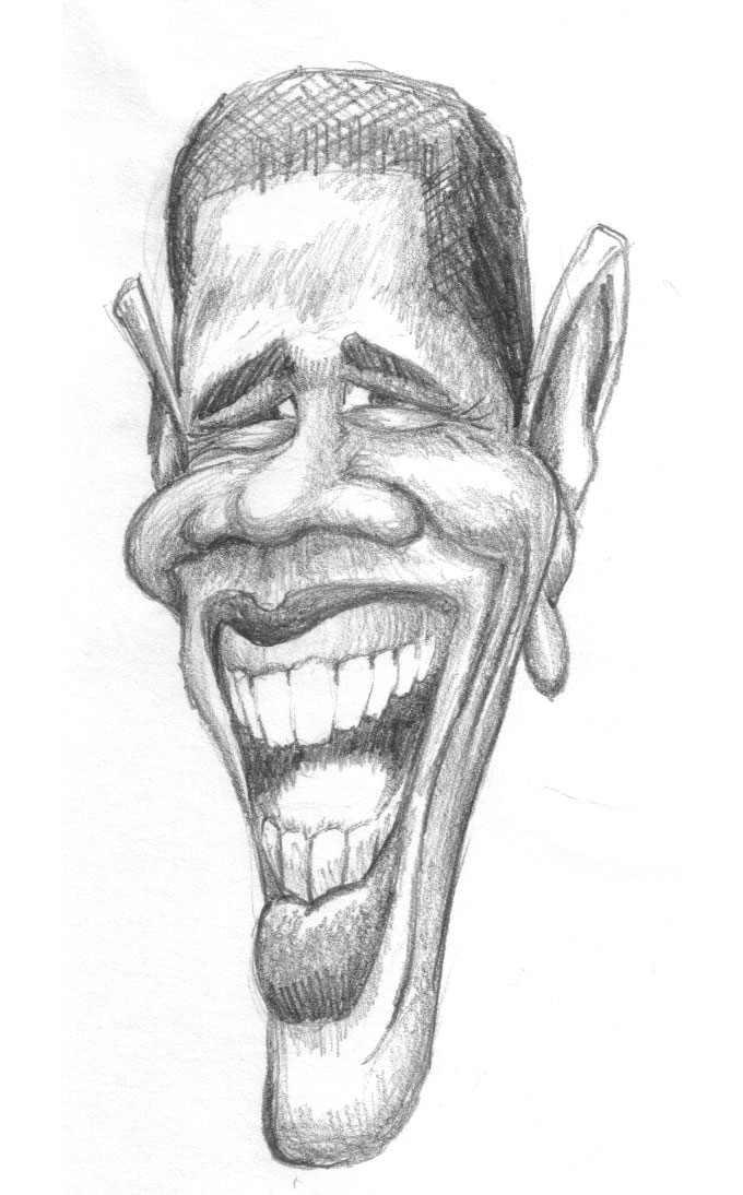 President Obama Caricature