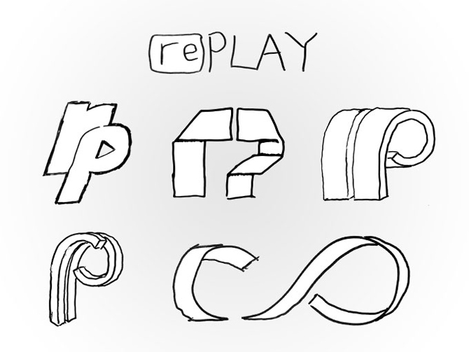 Replay Photos Logo Sketches