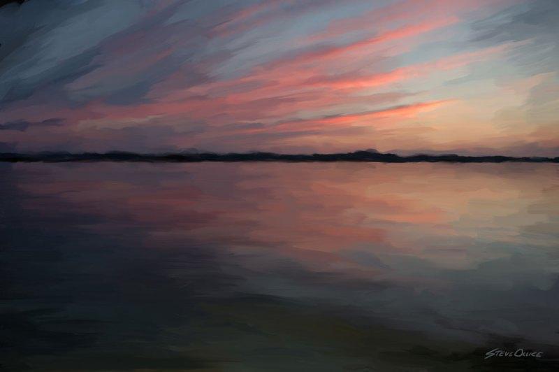 Cayuga Sunset Painting