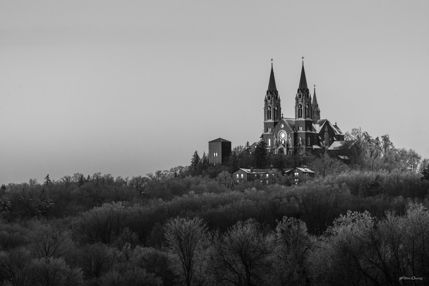 Holy Hill after a snow
