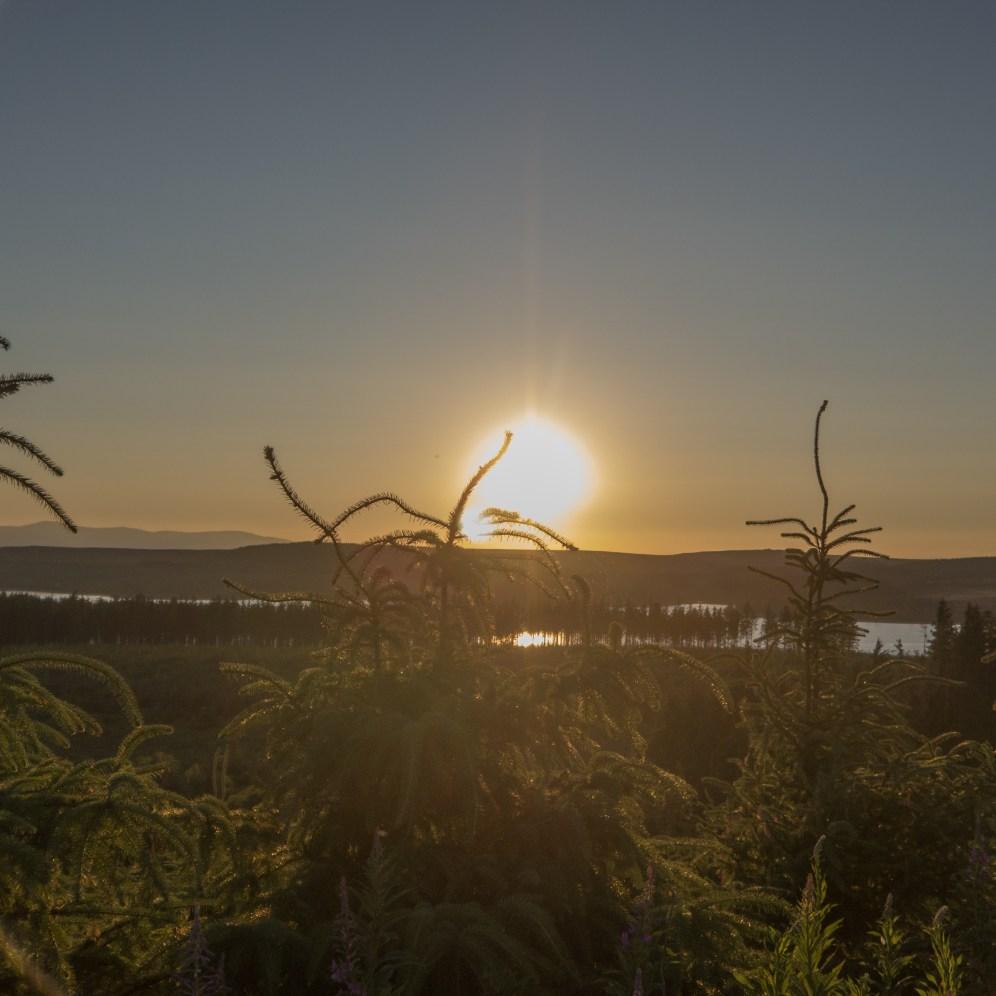 Sitka sunset above Lynn Brenig