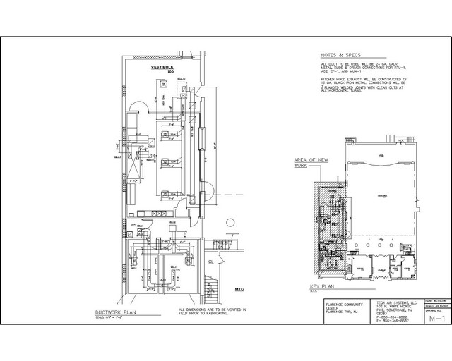 shop drawing for hvac