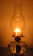 dim-and-flaring-oil-lamp